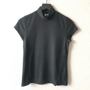 H by Bordeaux Brushed Knit Mock Neck Top